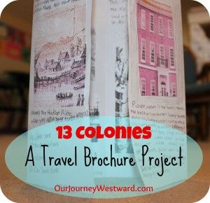 Thirteen Colonies Travel Brochure - a great writing & research activity to go with any Early American study.