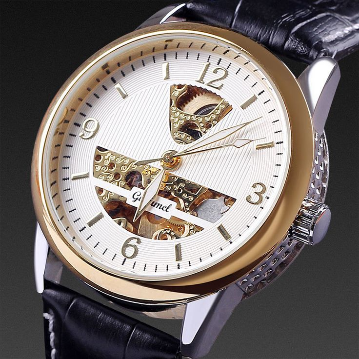 7 best images about watches two way radio cheap professional dropship hot relogio luxury brand rose gold hollow design genuine leather strap men automatic