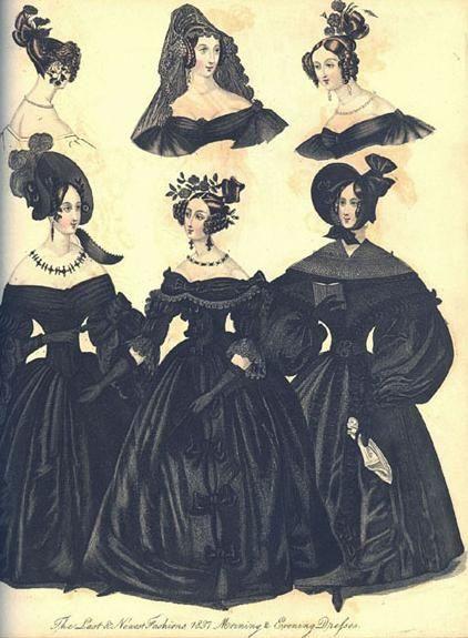 english fashion 1860s - mourning