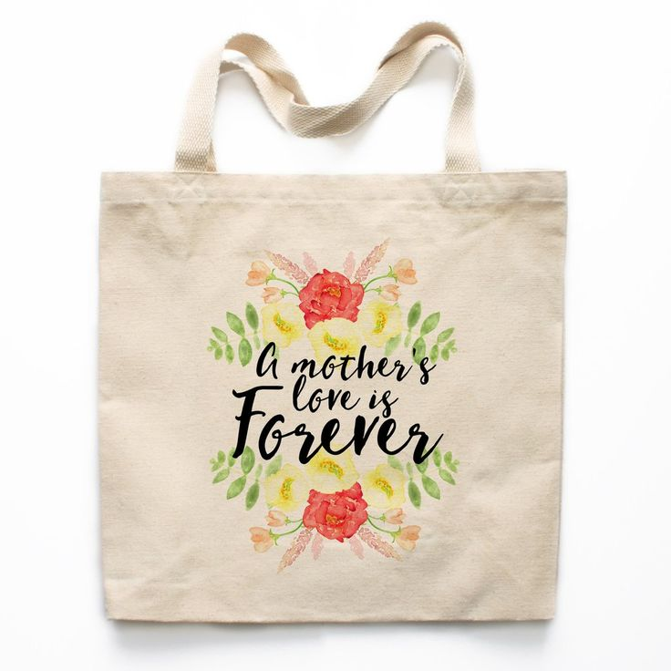A Mother's Love Is Forever Canvas Tote Bag - A Mother Is The World Canvas Tote Bag - Mother's Day Tote Bag, Mother's Day Gift, Gift for Mom, Gift Ideas for Mom, Tote Bag for Mom, Birthday Gift for Mom, Christmas Gift for Mom, Xmas Gift for Mom, Mom Birthd