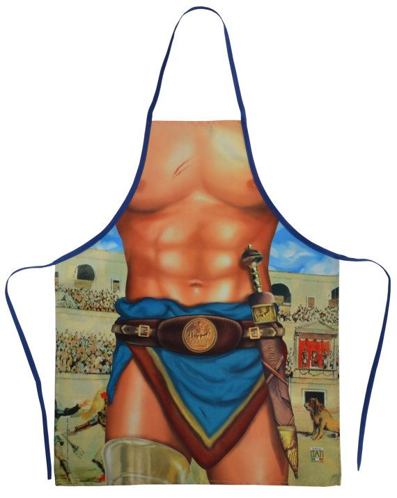 Gladiator Classic Flirty Apron Hilarious / by incrediblegiftscom $16.50