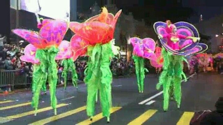 The big parade moment - what a Buzz. I'm in the front with orange petals