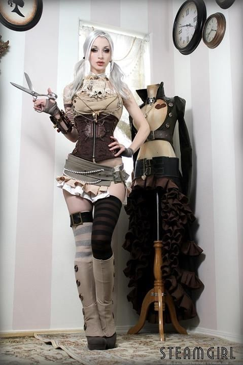 Steampunk costume and makeup #steampunk #costume #fashion