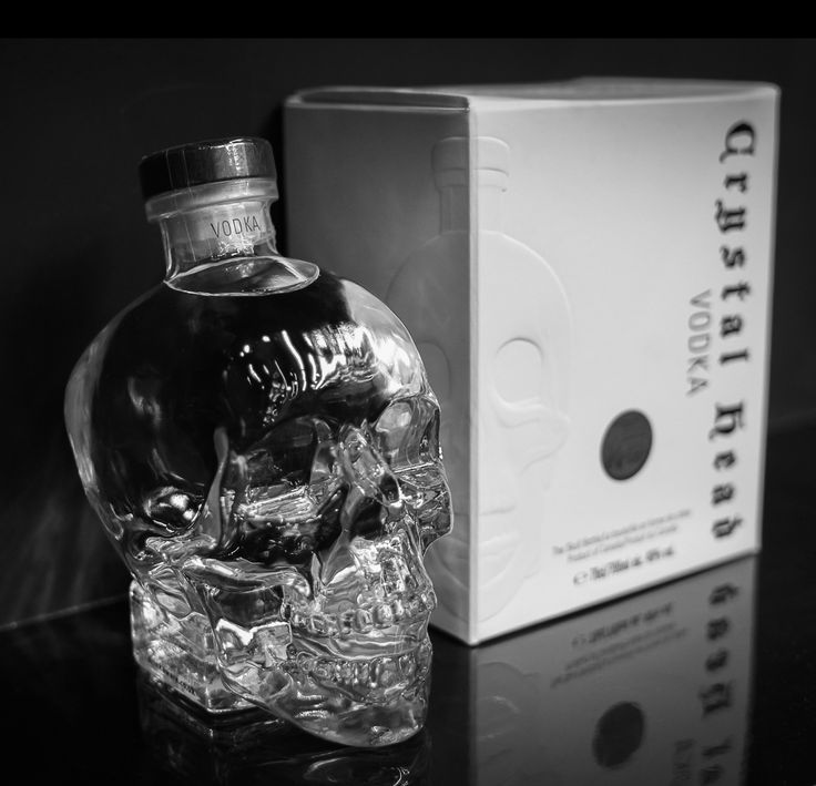Crystal Head Vodka cause the bottle is so damn cool