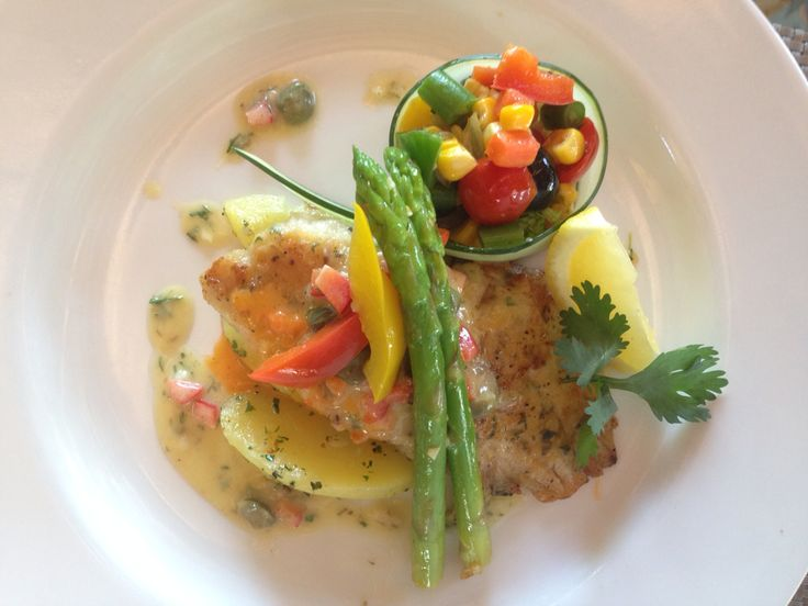 Grill snapper with lemon butter....