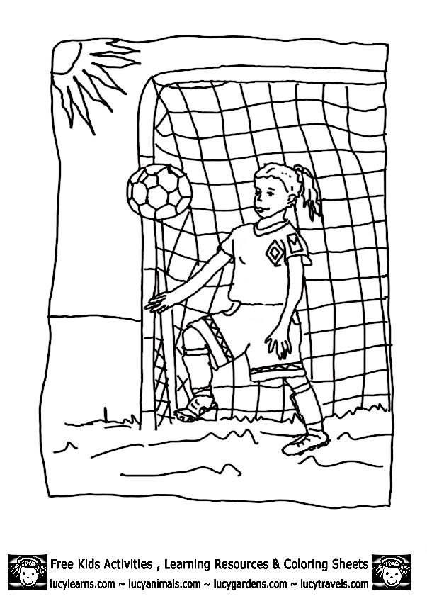 48 best Soccer Coloring Pages images on Pinterest | Malvorlagen ...