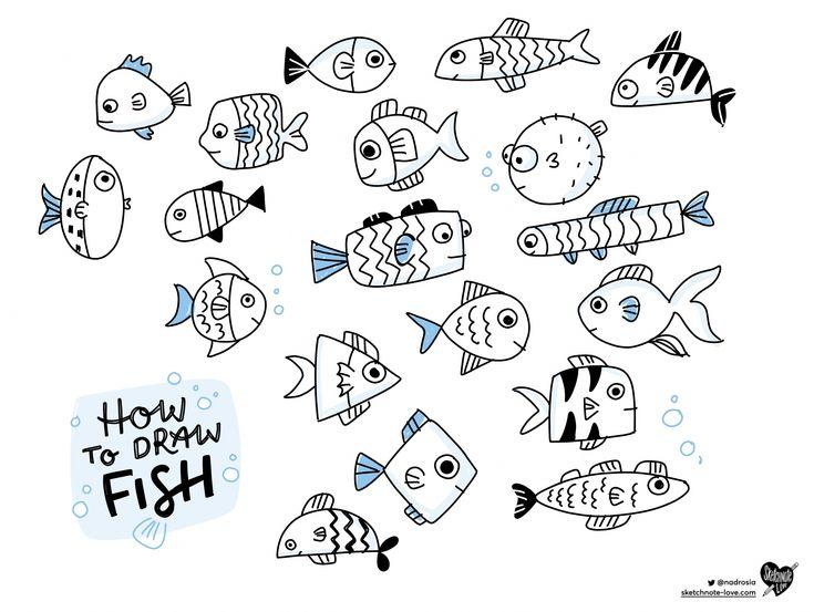 рисунок смешной рыбы