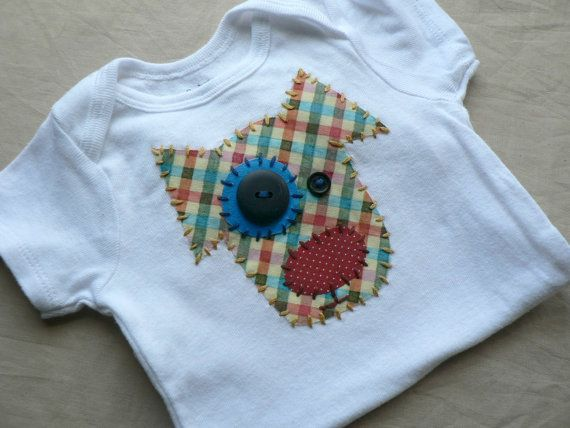Dog Applique Onesie Custom Size and Colors by ohmelisa on Etsy, $22.00