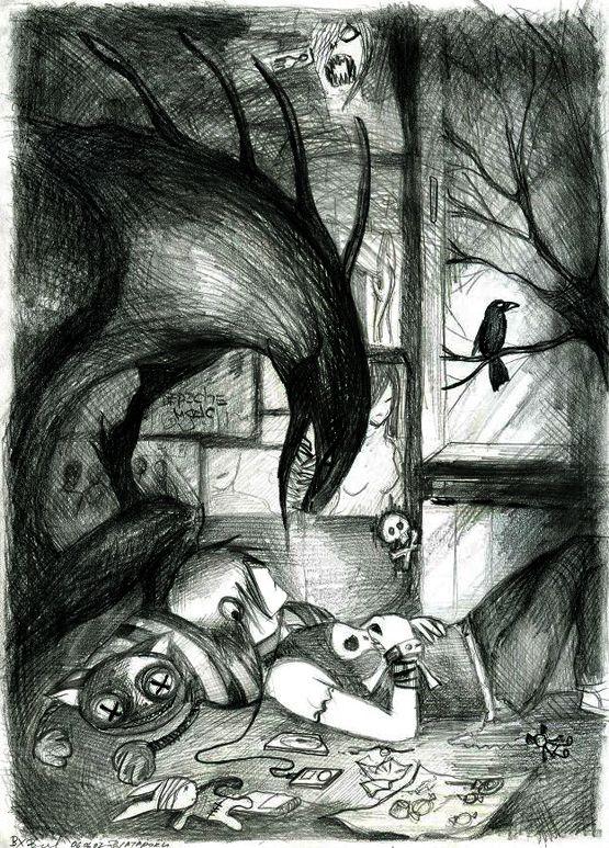 Картинки депрессия в рисунках