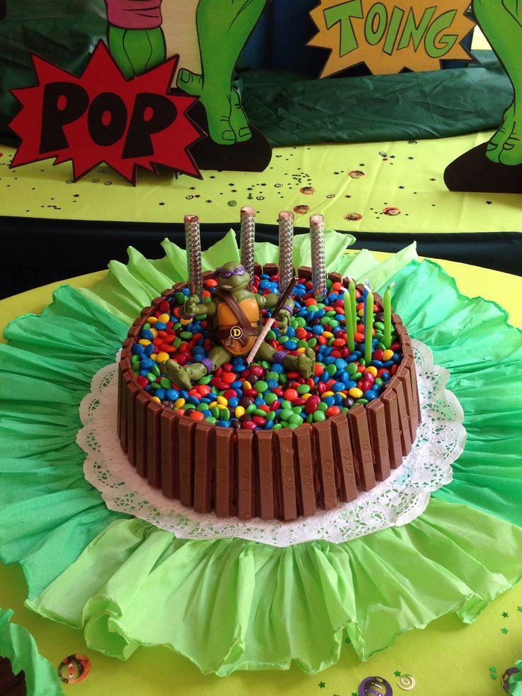 Torta De Cumplea 241 Os Tortuga Ninja Pi 241 Atas Pinterest
