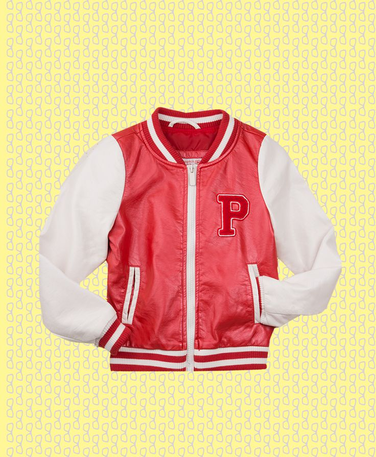 Pumpkin Patch PU Baseball Jacket - available in sizes 5 to 12 years http://www.pumpkinpatchkids.com