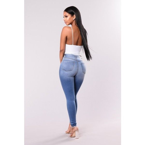 Classic High Waist Skinny Jeans Light Blue ($35) ❤ liked on Polyvore featuring jeans, super high-waisted skinny jeans, high rise skinny jeans, light wash skinny jeans, light blue skinny jeans and high waisted skinny jeans