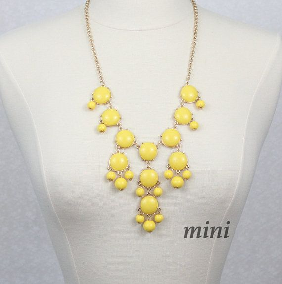 Yellow Bubble Necklace Bib Necklace Mini Version