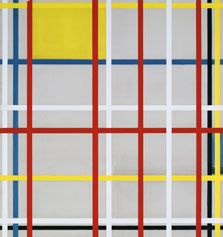 New York City, 3 (inacabado), Piet Mondrian