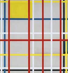 "Piet Mondrian: ""New York City, 3 (unfinished)."" 1941.  Museo Thyssen-Bornemisza, Madrid"