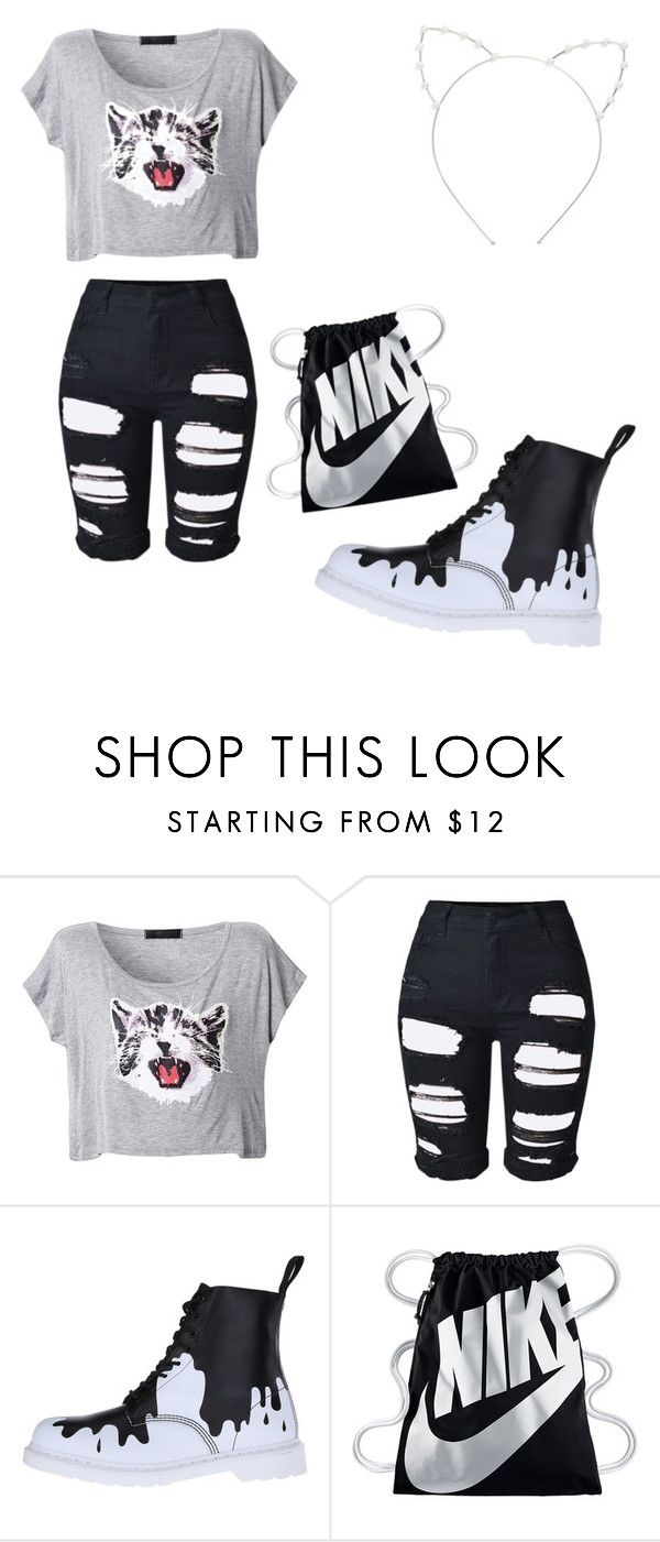 """✌"" by katkahrdl-1 on Polyvore featuring Topshop, Dr. Martens, NIKE and Cara"