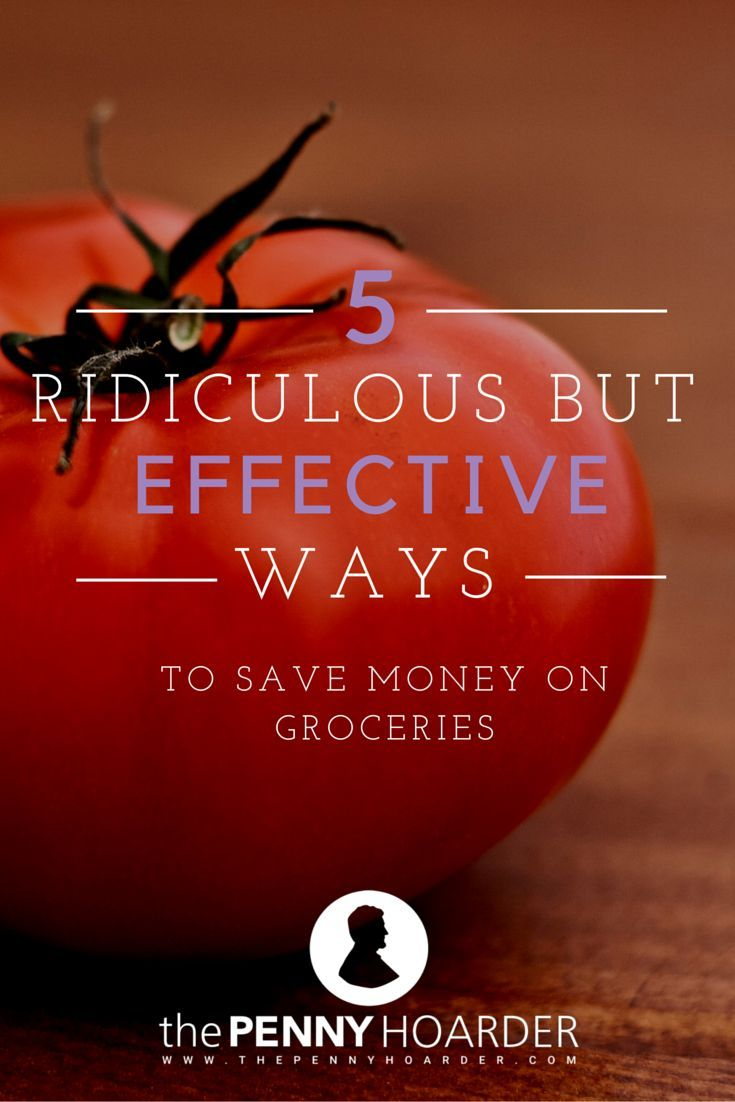 5 Ridiculous But Effective Ways To Save Money on Groceries - The Penny Hoarder  - http://www.thepennyhoarder.com/5-ridiculous-but-effective-ways-to-save-on-your-groceries/