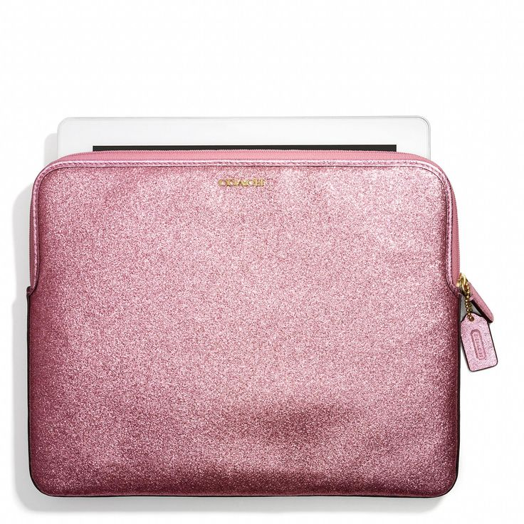 The Coach iPad Sleeve in Glitter: match it with our BCRF products (20% from the purchase of BCRF products is donated to The Breast Cancer Research Foundation®), which you can shop at Coach.com all October.