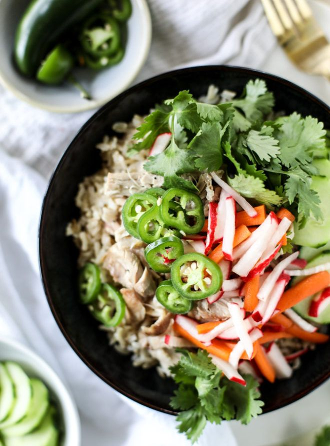 Slow Cooker Banh Mi Rice Bowls.