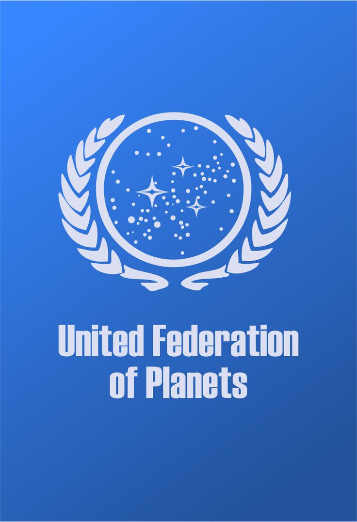 Star Trek Logo United Federation of Planets Flat Design