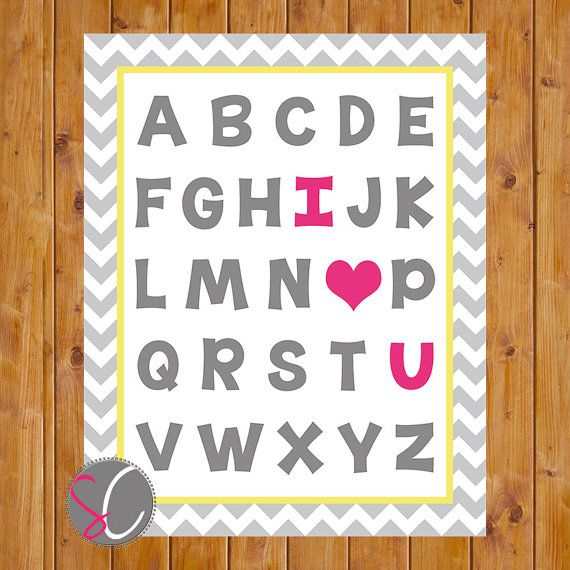 Instant Download Chevron I Love You Pink I Heart You by scadesigns