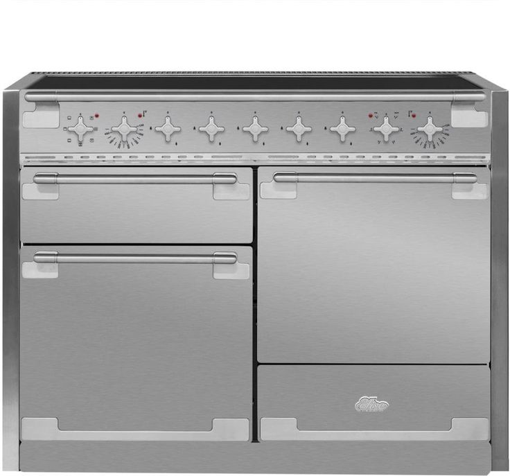 AGA AEL48INSS 48 Inch Electric Induction Range with European Convection, Multi-Function Oven, Glide-Out Broiler, 6.0 cu. ft. Total Capacity, 5 Induction Elements, EasyClean and Storage Drawer: Stainless Steel