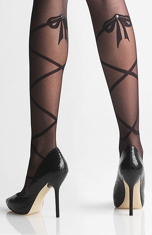 Bow ballerina tights