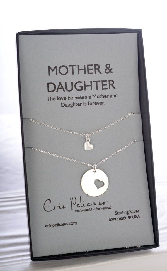 Mom Daughter Jewelry Set Mothers Day gifts for Mom Mother Daughter Necklace Set Mother of the Bride Gift