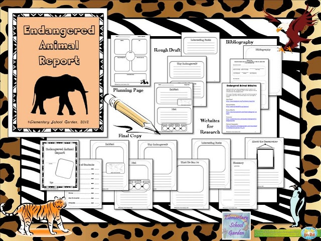 how to write a report on endangered species