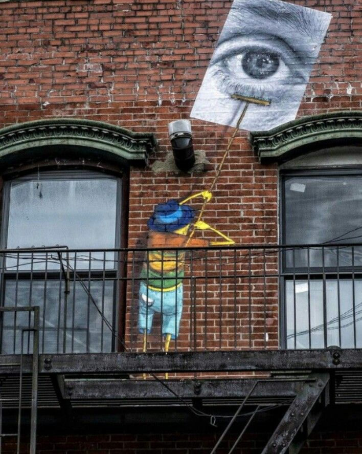 Street Art by JR and Os Gemeos, located in New York