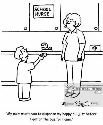 School Nurse cartoons, School Nurse cartoon, funny, School