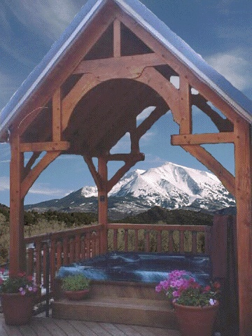 This Structure Is An Alpine Pavilion Kit Timber Frame