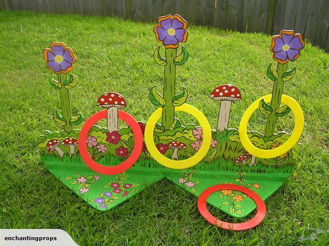 Fairy Party Game. Little ones will love having a go at tossing rings over the flowers!
