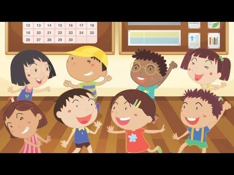 Teaching Spanish: Head Shoulders Knees & Toes, Spanish version | Kids' Songs - YouTube