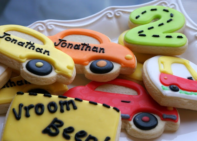 A Little Loveliness: A Colorful Cars Birthday Party