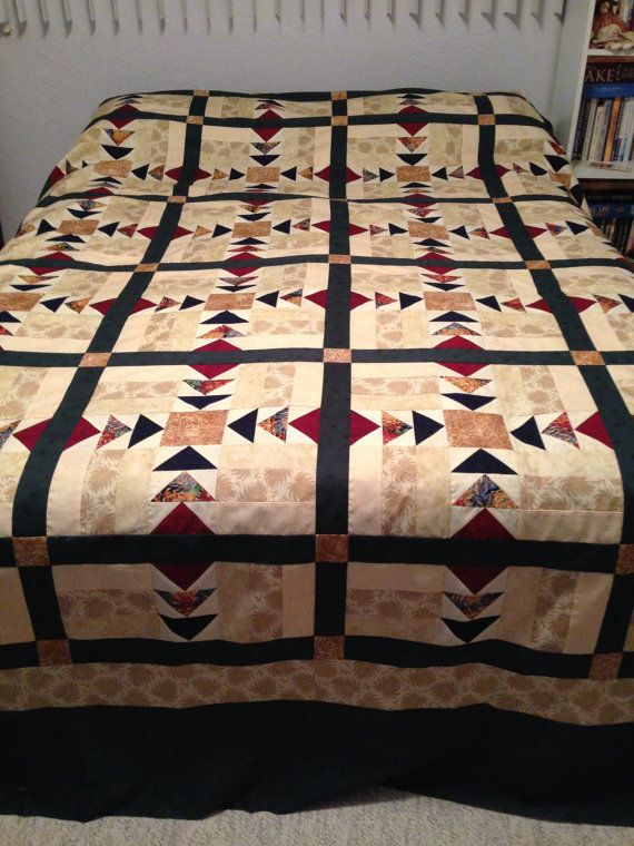 Wild Goose Chase Quilt Top by aquiltersgarden1 on Etsy