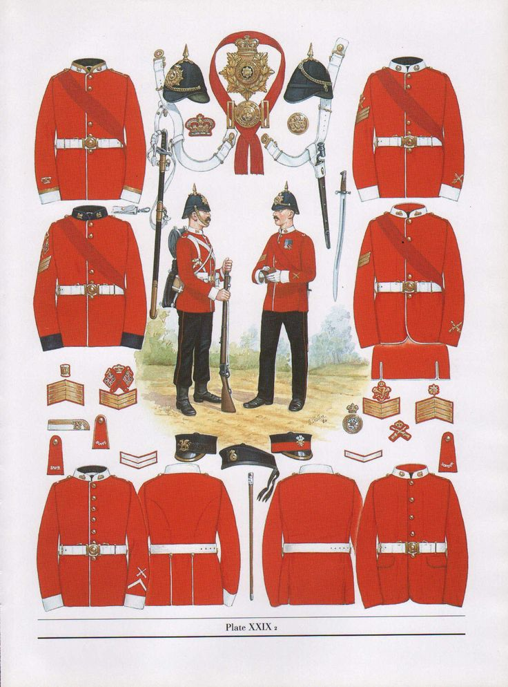 VINTAGE MILITARY BRITISH UNIFORM PRINT ~ 1881 INFANTRY NON-COMMISSIONED OFFICERS in Collectables, Militaria, Other Militaria | eBay