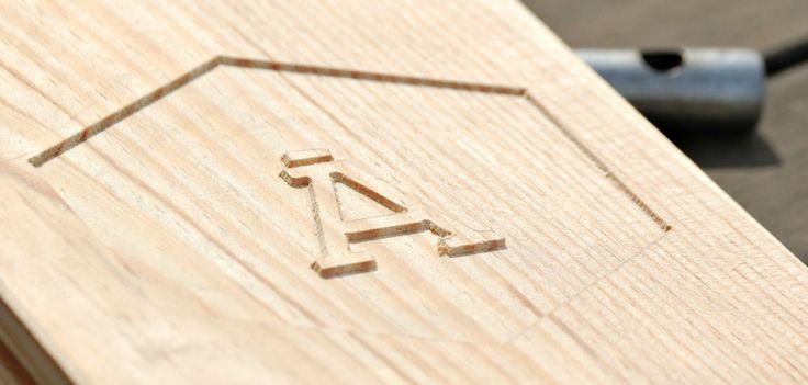 Working in our logo in wood