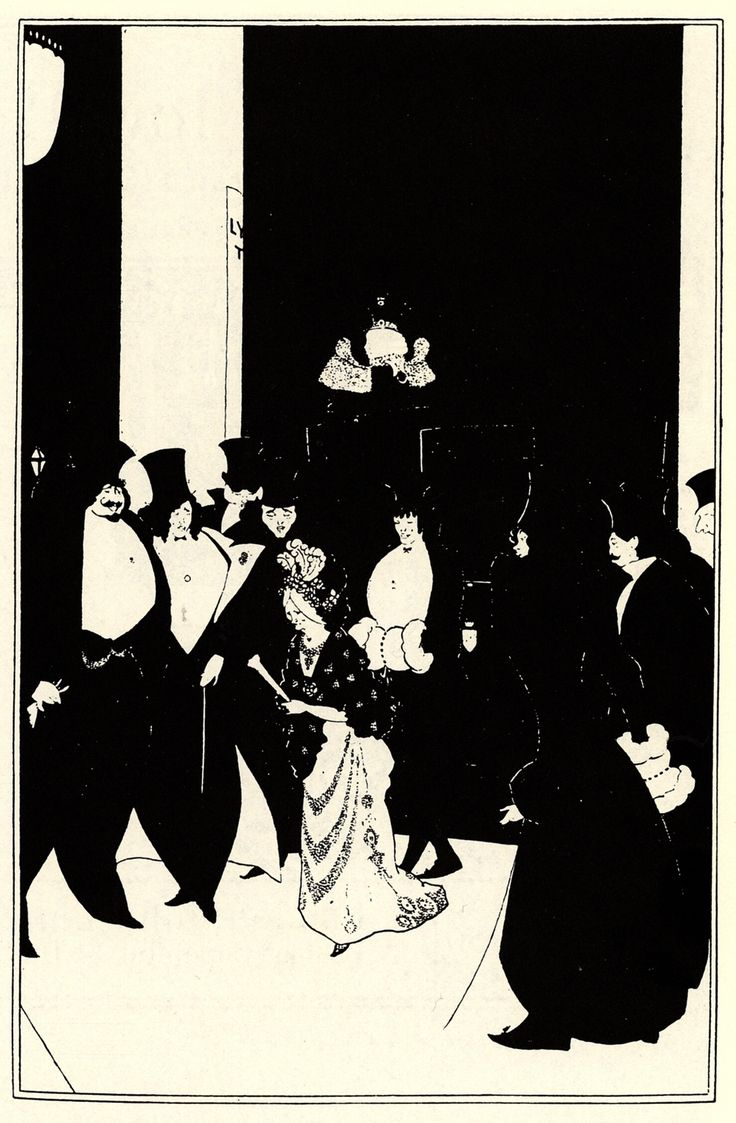 Lady Gold's Escort by Aubrey Beardsley — Found via Artful for Mac — http://artfulmac.com