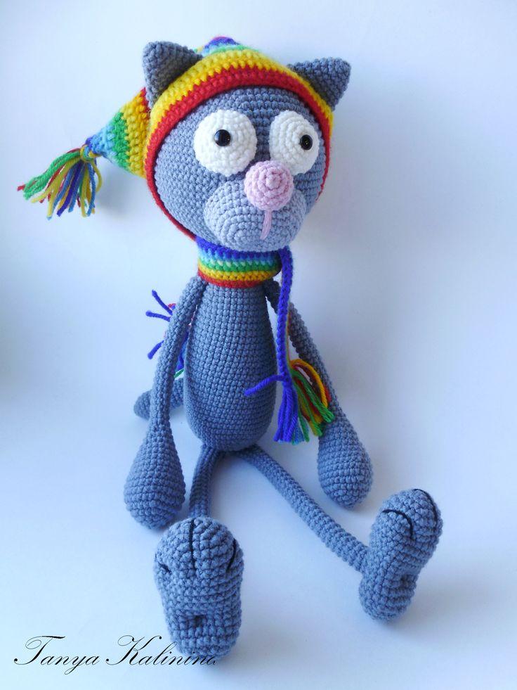 Знакомьтесь! Кот Филипп 😍 #kalinina_toys #игрушкиручнойработы #игрушкипермь #игрушкидлямалышей #игрушки #вяжуназаказ #вязаннаяигрушка #коткрючком #котФилипп #toys #amigurumi #cat #crochet