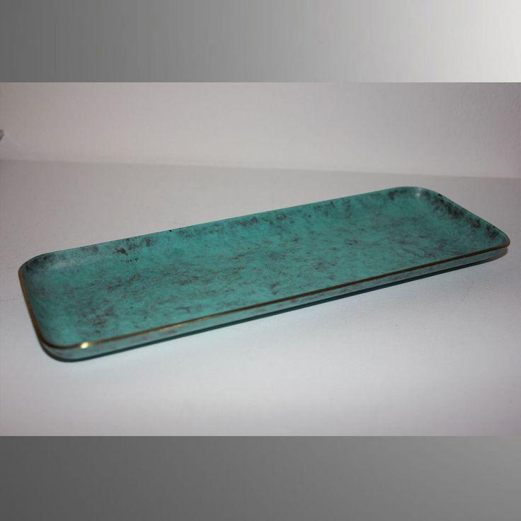 Schreibtischgarnitur 24cm 393g Stift-, Brieföffner-Ablage Messing Schale Patina   | eBay