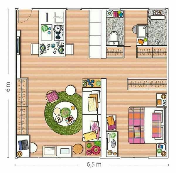 Loft Apartment Design Layout