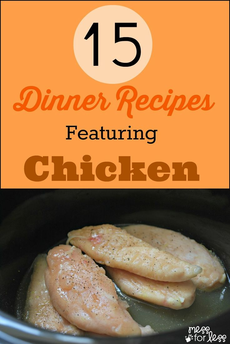 15 Sunday Dinner Chicken Recipes - new and exciting ways to prepare chicken. #sponsored