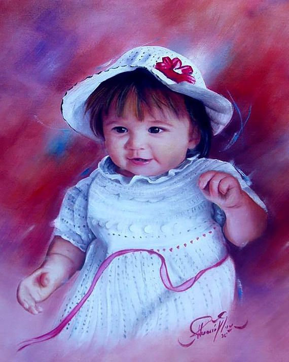 Personalized Custom Portrait painting art from photo by