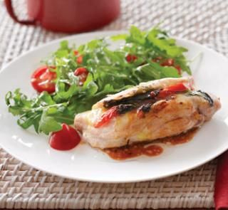 Chicken stuffed with mozzarella, basil and tomatoes | Healthy Food Guide