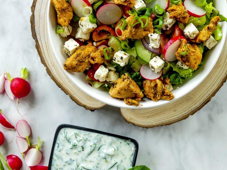 Griekse Gyros kip salade — Nigelvdhorst.com