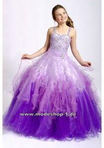 Lila Flieder Violett Abendkleid Ballkleid für Mädchen