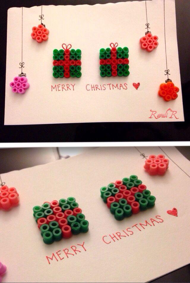 Handmade Hama beads Christmas card! Easy & super quick to make!