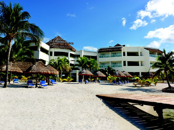 Isla Mujeres Palace with 62 beautifully appointed rooms. Cozy retreat ideal for destination and beach weddings