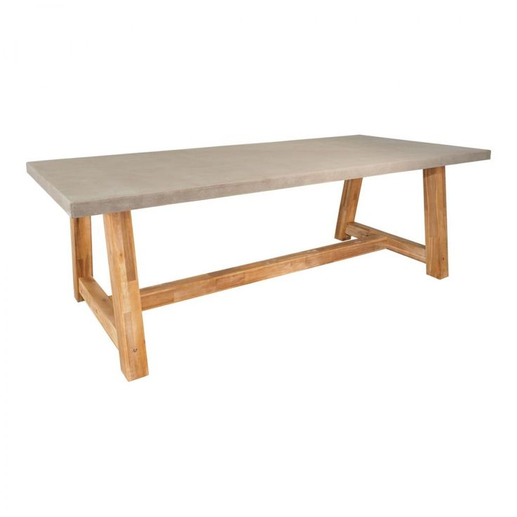 Marson Faux Cement Table 2400X1000mm - Tables - Outdoor